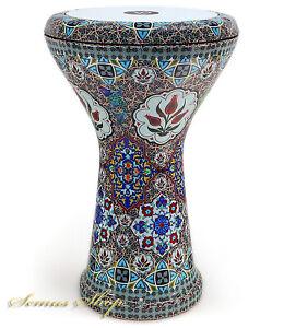 Orientalische Profi Solo Darbuka Darabuka Aluguß Handmade inkl. Zubehör