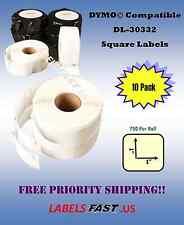 10 Rolls Dymo® Compatible Multipurpose Labels - 30332 - 750 Labels Per Roll