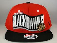 NHL Chicago Blackhawks Snapback Hat Cap Zephyr Rally Red Black