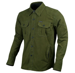 Men Motorcycle Cotton Shirt Reinforced With Protective Lining and Armor Padding