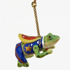 Lenox China Carousel Frog /s Christmas Tree Ornament 1989 Grr-Bit Croak