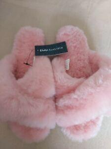 💖 EMU Australia Mayberry 100%Sheepskin pink slippers UK 7 New tags