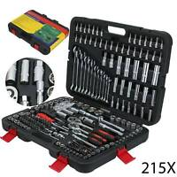 "215pcs Professional Socket Set - 1/2"" 3/8"" 1/2"" DR / Spanners / Torx + More UK"