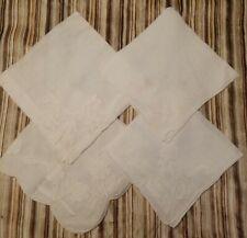 Vintage Handkerchiefs Set Of 4