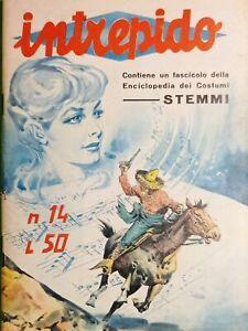 Fumetti - Enciclopedia dei Costumi Stemmi - Intrepido N. 14 - 1962