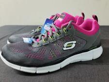 Skechers Equalizer Milestone Running Training Exercise Shoes Grey / Pink Size 7