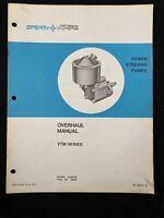 Sperry Vickers Overhaul Manual Vtm Series Power Steering Pumps *898