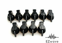 "10 x Black Chicken Head Plastic Effects Pedal Control Knob for 1/4"" Shaft"