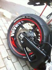 YAMAHA R1 Reflective Wheel Sticker Front Rear Wheel Wide Rim Stripes Full Set