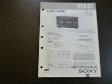ORIGINALI service manual Sony dxa-d7