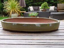31 cm Handmade Glazed Oval Bonsai Pot