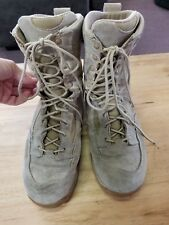 "Danner 26014 TFX Rough Out Hot 8"" Tan combat boots mens 11.5 Needs Insoles."