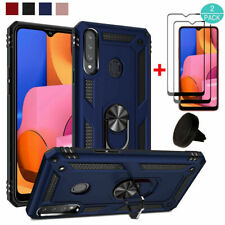 For Samsung Galaxy A20S Shockproof Ring Stand Case Cover+Screen Protector+Holder