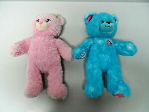 Bundle of 2 x Build A Bear Pink & Blue Teddy Bears   C2