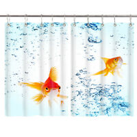 HD Goldfish Bubble Window Curtain Treatments Kitchen Curtains 2 Panels, 55X39""