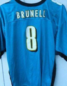 JACKSONVILLE JAGUARS  MARK BRUNELL # 8 JERSEY SIZE YOUTH X-LARGE BY WILSON
