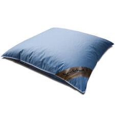 Kissen mit 100% neuen weißen Gänsefedern in 80x80 cm Federkissen blau Kopfkissen