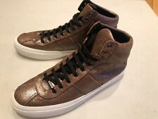 Jimmy Choo High Top Sneakers, Size 46, New Without Box, Bronze