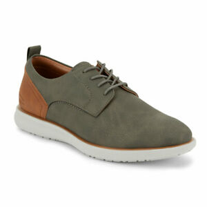 G.H. Bass & Co. Mens Duncan Tumbled WX Synthetic Leather Casual Oxford Shoe