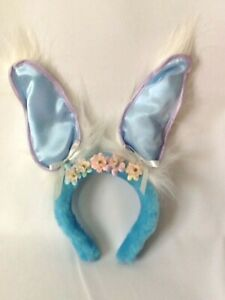 Pink Generic 1 Pieces Baby Colorful Easter Bunny Headband with Flower Glitter Rabbit Ears Headband for Easter Gift