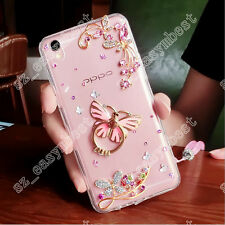Fashion Diamond Crystal Ring Holder Butterfly Kickstand Phone Case Bling Cover