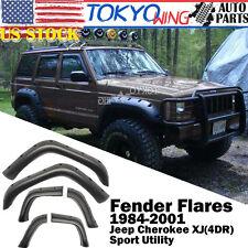 "Fit 84-01 Jeep Cherokee XJ Sport Utility 5"" Coverage Pocket Rivet Fender Flares"