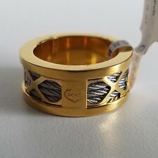 CHARRIOL Forever Steel Yellow PVD Ring Yellow Gold Color Size 8 1/4 NWT $230