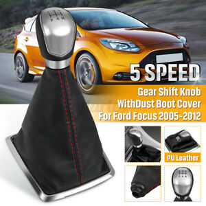UK 5 Speed Gear Stick Shift Knob Gaiter Boot Cover For Ford Focus MK2&MK3