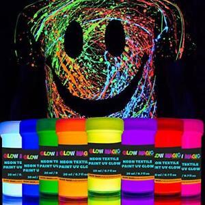individuall Glow Magic Fabric UV Paint Set - Set of 8 – Neon Textile Black Light
