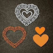 3Pc Love Heart Metal Cutting Dies Stencil DIY Scrapbooking Paper Card Hand Craft