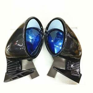 Pair Universal Carbon Fiber Look Side View Mirror Fit for Car Truck Accessories
