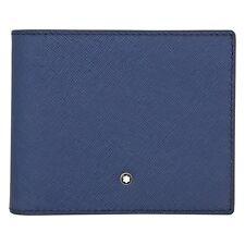 Montblanc BRIEFTASCHE Sartorial blau 8 Kreditkarten 113213