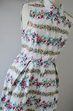 TU 1940's tea dress shirt 1950's summer multicoloured white floral 14 BNWT