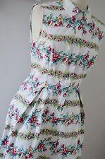 TU 1940's tea dress shirt 1950's summer multicoloured white floral 14 BNWT
