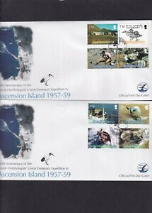Ascension Island 2005 Ornithogists Expedition birds boats landrover pair FDC