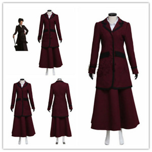 Doctor Who 8th Missy Mistress Cosplay Costume Made Ladies Top Skirt Shirt