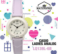 Casio Classic Ladies Analogue Watch Purple Leather Band LQ 139 L 6 B