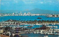 Chrome Postcard CA B538 San Diego California Mountains Point Loma Shelter Island