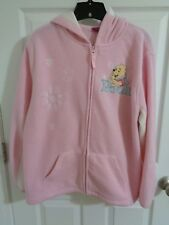 Women's Disney Pink Fleece Hoodie Jacket Pooh Bear size Junior L (11)