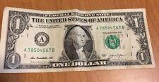 2013$1 LADDER UP SERIAL NUMBER # FRN A78504567 B