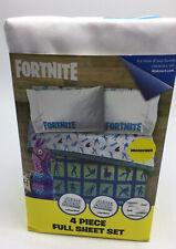 Fortnite 4pc Full Microfiber Sheet Set Kids Room