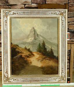 J. H. Thomas * 1922 älteres Ölgemälde das Matterhorn Alpen J.H. Joseph Heinrich