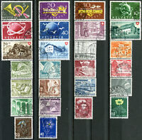 SUISSE N° 471/96 Oblitérés ANNÉE 1949 COMPLÈTE