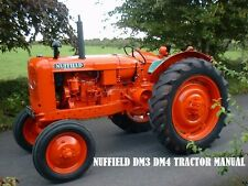 NUFFIELD DM3 DM4 OPERATION MAINTENANCE MANUALs 100pg for DM3 4 Tractor Service