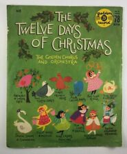 """Vtg 1960 Golden Record 6"""" 78 RPM The 12 Days of Christmas Golden Chorus Orch 503"""