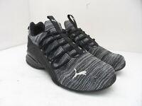 Puma Men's Axelion Knit Sneaker Low-Cut Shoes Black/Grey Size 8.5M