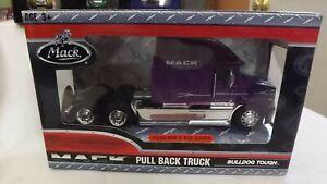Mack Pull Back Purple Semi Truck Vision With Hi Rise Sleeper