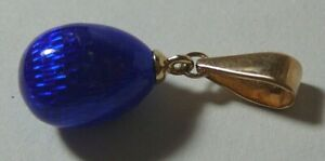 Egg Pendant 56 (14k ) Solid Rose Gold Enamel Imperial Russia