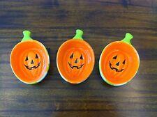 Mud Pie Halloween Pumpkin Mini Dips- Set of 3, MSRP $18