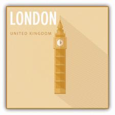 "Big Ben London United Kingdom Travel Car Bumper Sticker Decal 5"" x 5"""